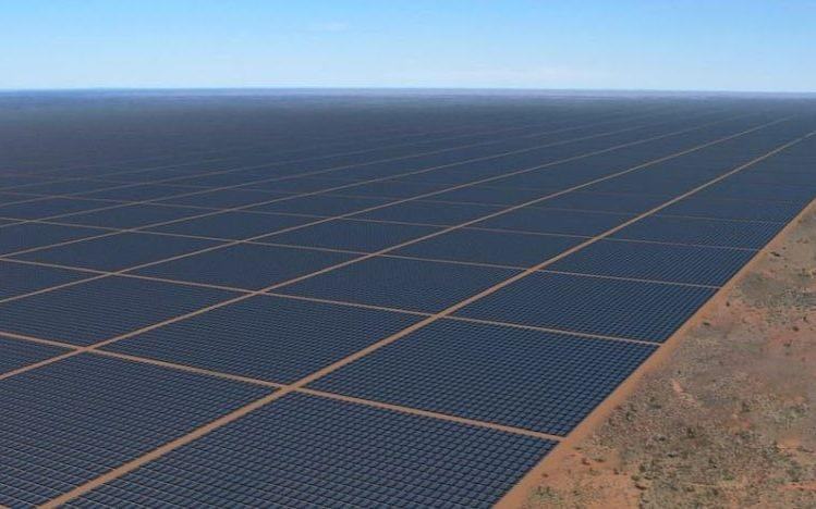 A computer-generated image of the solar farm in the Northern Territory
