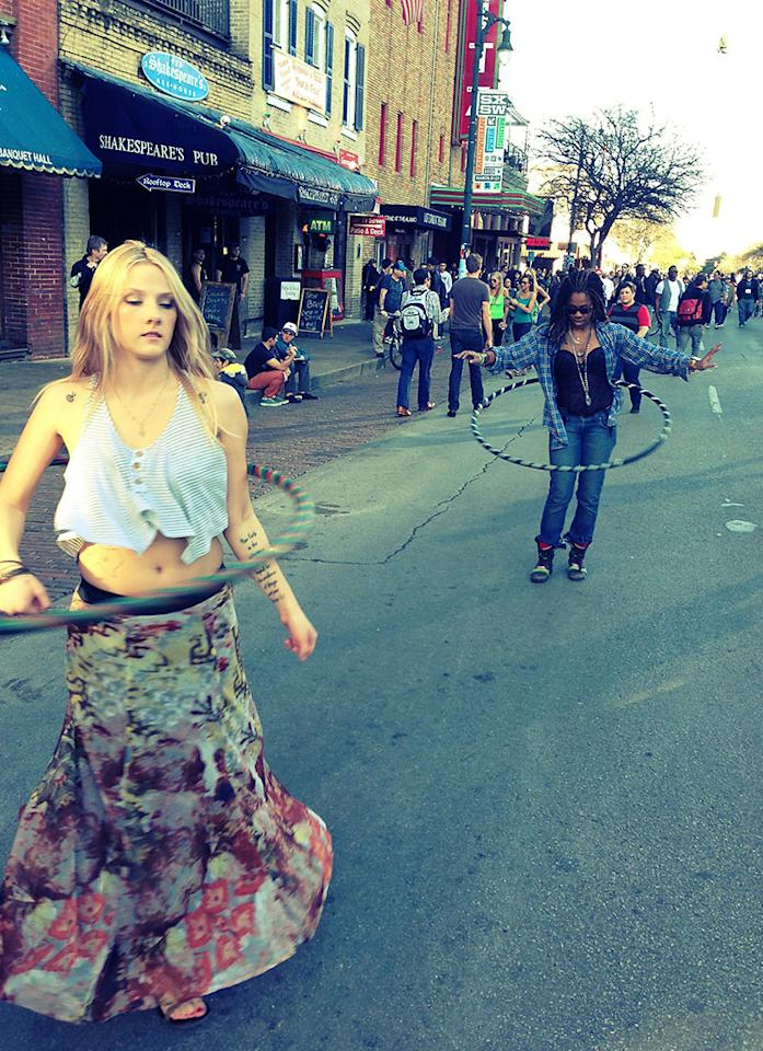 Hula hooping on 6th street #sxsw