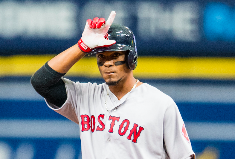 Xander Bogaerts celebrated too early on opening day. (Getty Images)