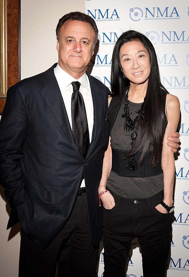 NEW YORK, NY - APRIL 25:  Arthur Becker and Vera Wang  attends the 3rd annual National Meningitis Association's Give Kids a Shot gala at the New York Athletic Club on April 25, 2011 in New York City.  (Photo by Dave Kotinsky/Getty Images) *** Local Caption *** Arthur Becker and Vera Wang;