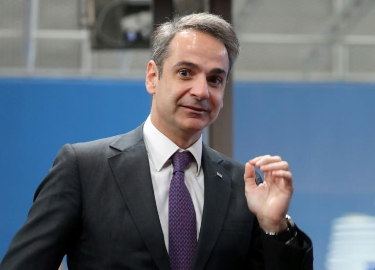 Greek PM Kyriakos Mitsotakis called an emergency defence meeting (AFP Photo/Ludovic Marin)