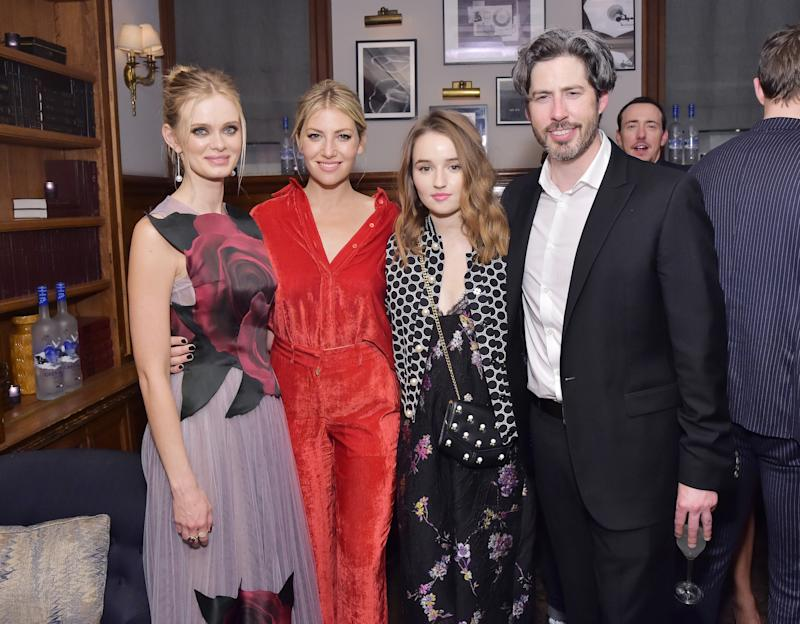 Sara Paxton, Ari Graynor, Kaitlyn Dever, and Jason Reitman at The Front Runner premiere party hosted by GREY GOOSE Vodka and Soho House at Soho House Toronto on September 8, 2018, in Toronto, Canada.