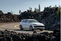 """<p>Last year, Porsche's most powerful SUV was the <a href=""""https://www.caranddriver.com/porsche/cayenne-turbo-turbo-s"""" rel=""""nofollow noopener"""" target=""""_blank"""" data-ylk=""""slk:Cayenne Turbo"""" class=""""link rapid-noclick-resp"""">Cayenne Turbo</a>, powered by a 541-hp twin-turbocharged 4.0-liter V-8 backed by an eight-speed automatic transmission. That model continues to offer 568 lb-ft of torque, and according to Porsche, a zero-to-60-mph time of 3.7 seconds (with the Sport Chrono Package) and a top speed of 177 mph. But there's a new king in Porsche SUV Town: the Cayenne Turbo S E-Hybrid. The plug-in hybrid has a total output of 670 hp and 663 lb-ft of torque. With the optional Sport Chrono Package, we hit <a href=""""https://www.caranddriver.com/reviews/a28682139/2020-porsche-cayenne-turbo-s-e-hybrid-drive/"""" rel=""""nofollow noopener"""" target=""""_blank"""" data-ylk=""""slk:60 mph in just 3.2 seconds"""" class=""""link rapid-noclick-resp"""">60 mph in just 3.2 seconds</a>, tying the the RS Q8 as the second-quickest SUV.</p><p><a class=""""link rapid-noclick-resp"""" href=""""https://www.caranddriver.com/porsche/cayenne-turbo-turbo-s/specs/2021/porsche_cayenne-turbo-turbo-s_porsche-cayenne-turbo-s-e-hybrid_2021/417650"""" rel=""""nofollow noopener"""" target=""""_blank"""" data-ylk=""""slk:MORE CAYENNE S E-HYBRID SPECS"""">MORE CAYENNE S E-HYBRID SPECS</a></p>"""