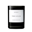 """Byredo's Tree House candle reels us back to our childhood, with its composition of cedar, bamboo, sandalwood, guaiac wood, and surprising notes of hay and leather. Maybe you're on a haunted hay ride a few nights before Halloween. You could be building a fort in the woods behind your kid home. No matter where you are now, Tree House has a way of transporting you back in time. $45, Bloomingdales. <a href=""""https://www.bloomingdales.com/shop/product/byredo-tree-house-fragranced-candle?ID=3556497&CategoryID=2921"""" rel=""""nofollow noopener"""" target=""""_blank"""" data-ylk=""""slk:Get it now!"""" class=""""link rapid-noclick-resp"""">Get it now!</a>"""