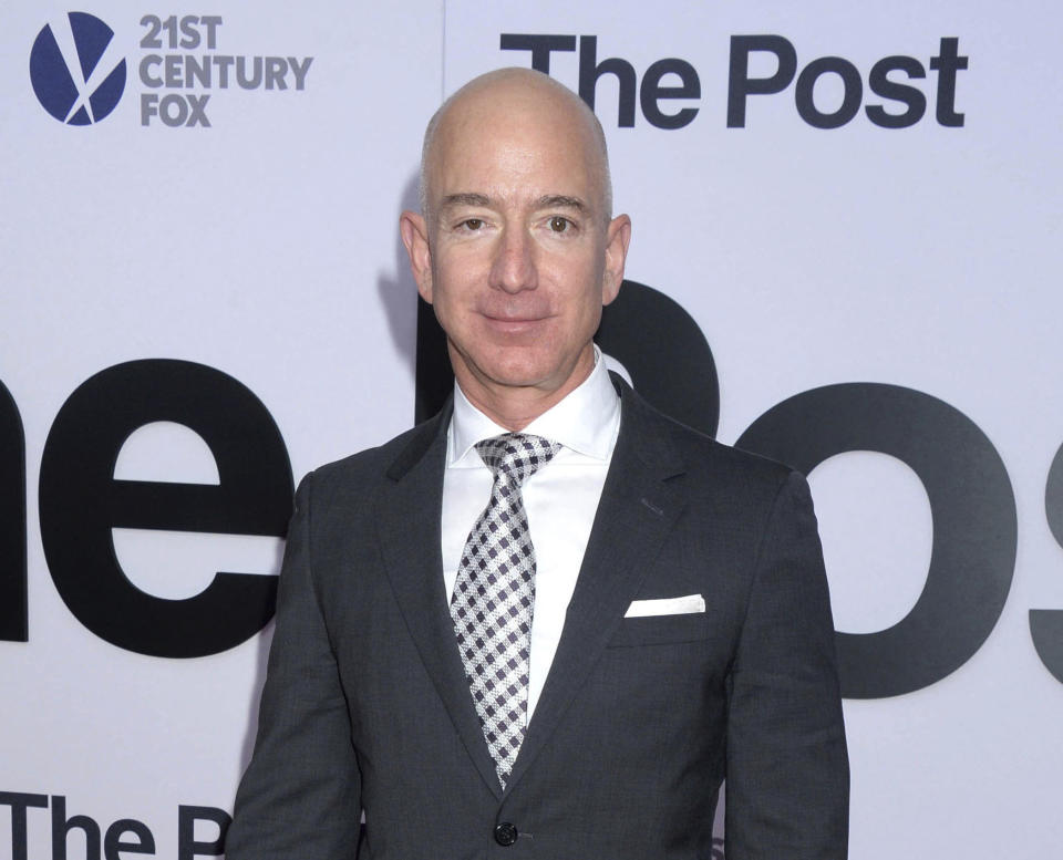 FEBRUARY 2nd 2021: Jeff Bezos will step down as Chief Executive Officer (CEO) of Amazon in the third quarter of 2021. He will transition into the role of Executive Chairman. - File Photo by: zz/Dennis Van Tine/STAR MAX/IPx 2017 12/14/17 Jeff Bezos at the premiere of