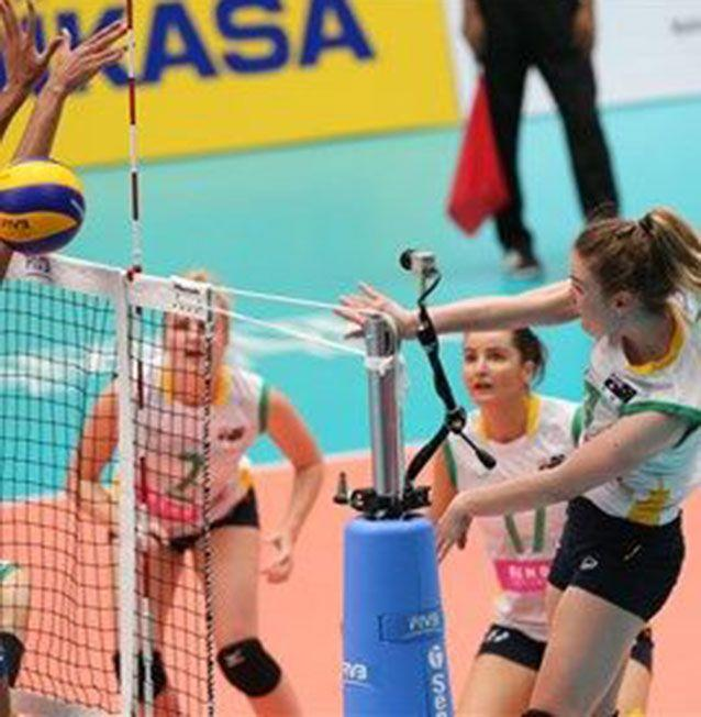 The young athlete played a 'short match' according to a former coach. Picture: Volleyball Australia