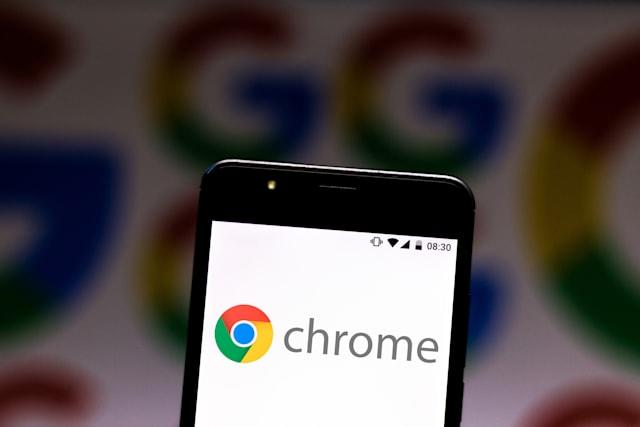 BRAZIL - 2019/07/08: In this photo illustration a Google Chrome logo seen displayed on a smartphone. (Photo Illustration by Rafael Henrique/SOPA Images/LightRocket via Getty Images)