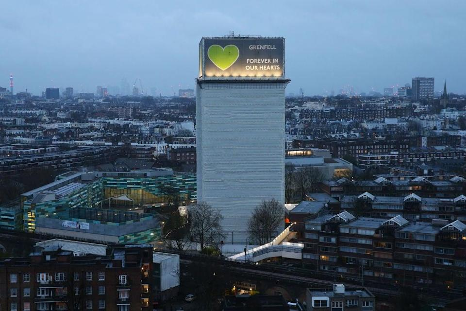 A view of Grenfell Tower, where a severe fire killed 72 people in June 2017. (Getty Images)