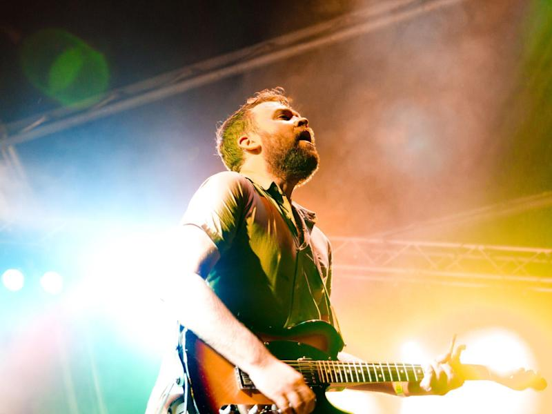 Scott Hutchison of Frightened Rabbit performs onstage: Ben Morse