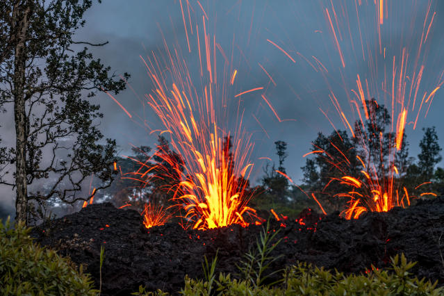 "<p>CJ, who is from Hawaii, said: ""I have chosen to show the beauty of the volcano and try to convey that even though this is a destructive event, it is a beautiful event. (Photo: CJ Kale/Caters News) </p>"