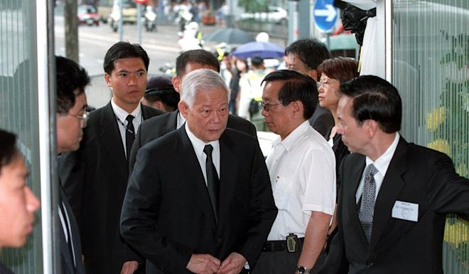 Ye Xuanping attends the funeral of industrialist Ann Tse-kai in Hong Kong in 2000. Photo: David Wong