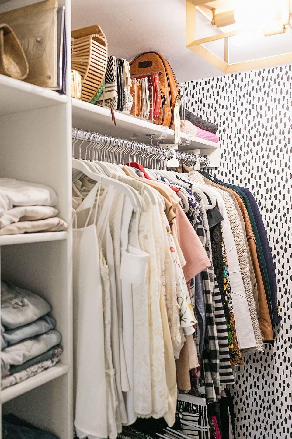 "<p>No matter how much you love an item in your closet, if you can't see it, you won't use it. File clutches and wallets in a mail organizer to keep them on display and within easy reach. (Storing them upright will also help them retain their shape.)</p><p>See more at <a href=""https://dianaelizabethblog.com/reveal-updated-tiny-closet-efficient-makeover-blogger-closet/"" rel=""nofollow noopener"" target=""_blank"" data-ylk=""slk:Diana Elizabeth"" class=""link rapid-noclick-resp"">Diana Elizabeth</a>. </p><p><a class=""link rapid-noclick-resp"" href=""https://www.amazon.com/Wikkiv-Organizer-Practical-Desktop-Sorter/dp/B07DWTNNHR/ref=sr_1_10?tag=syn-yahoo-20&ascsubtag=%5Bartid%7C10072.g.29994972%5Bsrc%7Cyahoo-us"" rel=""nofollow noopener"" target=""_blank"" data-ylk=""slk:SHOP ORGANIZERS"">SHOP ORGANIZERS</a></p>"