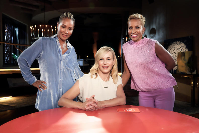 Chelsea Handler on appeared on Red Table Talk with Jada Pinkett Smith and Adrienne Banfield-Jones. (Photo: Michael Becker)