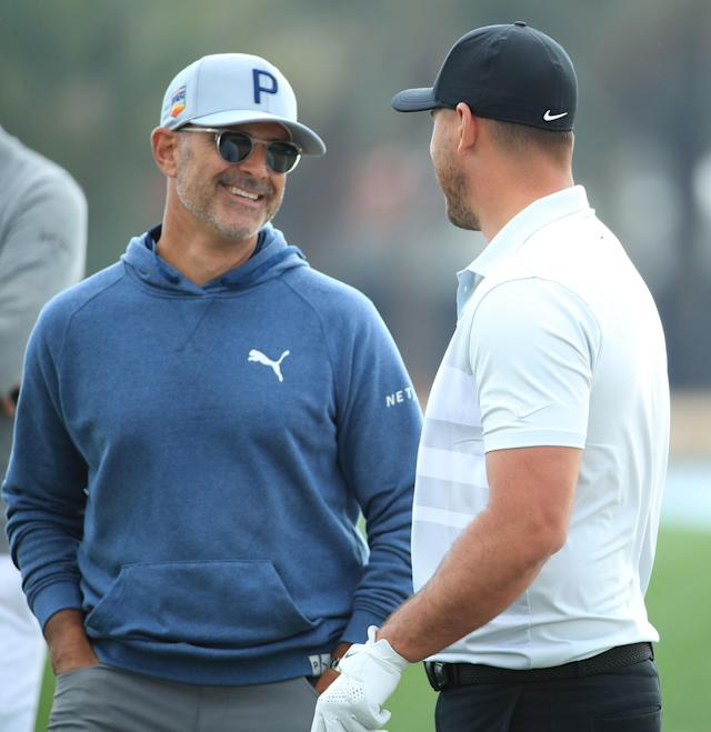 "<h1 class=""title"">claude-harmon-iii-brooks-koepka-2020.jpg</h1> <div class=""caption""> Harmon says he is talking to Koepka almost daily, as well as several other tour pros he works with. </div> <cite class=""credit"">Andrew Redington/Getty Images</cite>"