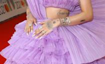 <p>Sawayama's long milky white manicure is one that we're trying out ASAP. </p>
