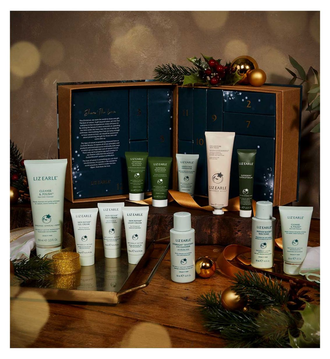Everything included in this calendar is cruelty-free and suitable for all skin types. (Liz Earle)