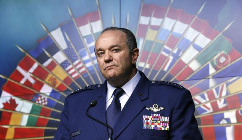 NATO Supreme Allied Commander Europe and Commander of the U.S. European Command General Philip Breedlove listens to a question during a news conference at the National Defence headquarters in Ottawa May 6, 2014. NATO will have to consider permanently stationing troops in eastern Europe as a result of the increased tension between Russia and Ukraine, the alliance's top military commander Breedlove said on Tuesday. REUTERS/Chris Wattie (CANADA - Tags: POLITICS MILITARY)