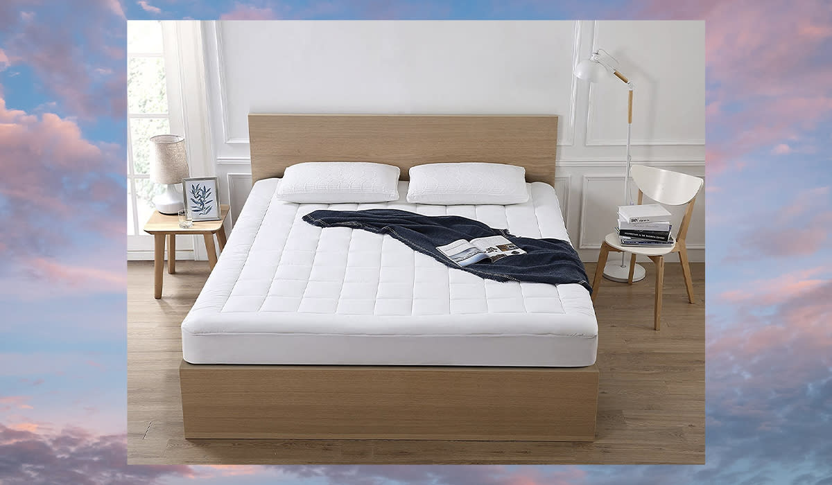This fitted, cozy topper is the best investment you can make in a great night's sleep. (Photo: Amazon)
