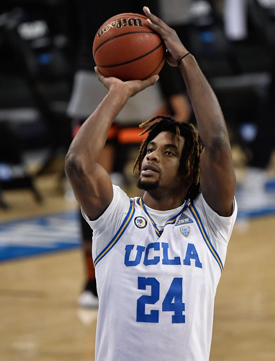 UCLA forward Jalen Hill shoots a free throw during a January game against Oregon State.