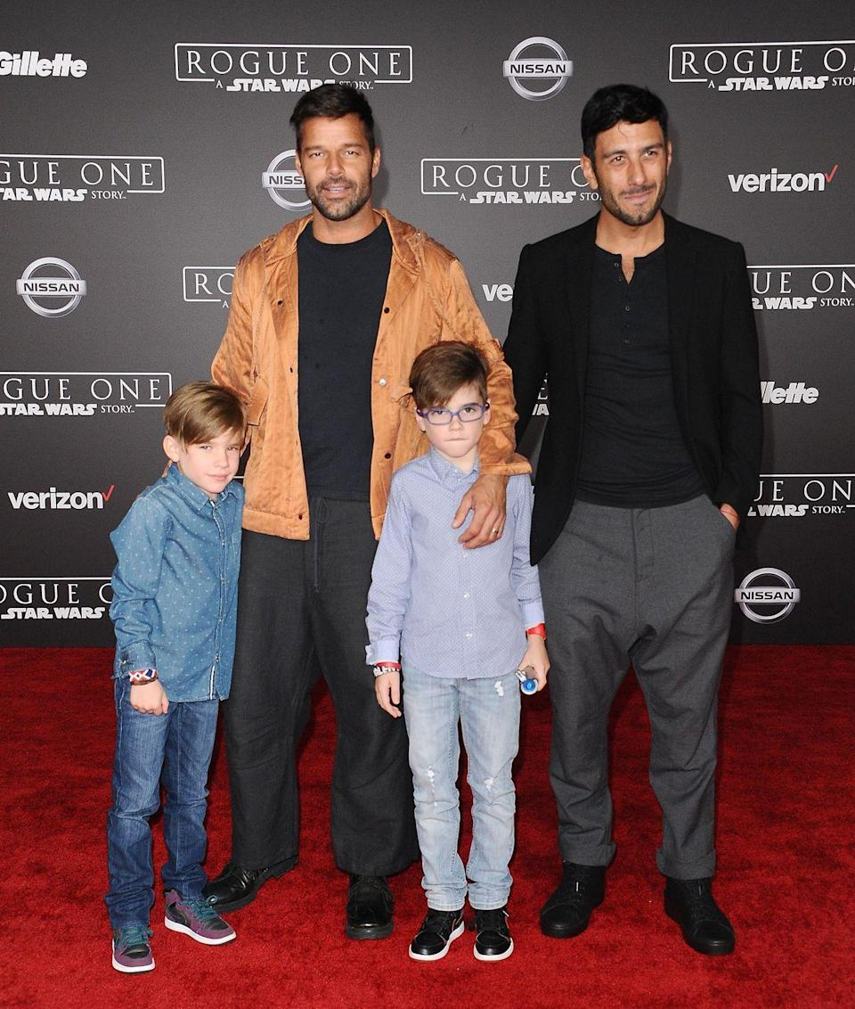 """<p><strong>Children</strong>: Valentino Martin (11), Matteo Martin (11), Lucia Martin-Yosef (1), Renn Martin-Yosef (1)</p><p>When he's not entertaining the masses with <a href=""""https://www.oprahmag.com/entertainment/g28676212/ricky-martin-songs/"""" rel=""""nofollow noopener"""" target=""""_blank"""" data-ylk=""""slk:hit songs such as &quot;Livin' La Vida Loca,&quot;"""" class=""""link rapid-noclick-resp"""">hit songs such as """"Livin' La Vida Loca,""""</a> the Grammy award-winning Latin pop singer is busy <a href=""""https://www.oprahmag.com/life/a28660432/ricky-martin-kids/"""" rel=""""nofollow noopener"""" target=""""_blank"""" data-ylk=""""slk:raising four children"""" class=""""link rapid-noclick-resp"""">raising four children</a> with <a href=""""https://www.oprahmag.com/entertainment/a27682068/who-is-ricky-martin-husband-jwan-yosef/"""" rel=""""nofollow noopener"""" target=""""_blank"""" data-ylk=""""slk:husband Jwan Yosef"""" class=""""link rapid-noclick-resp"""">husband Jwan Yosef</a>.</p>"""