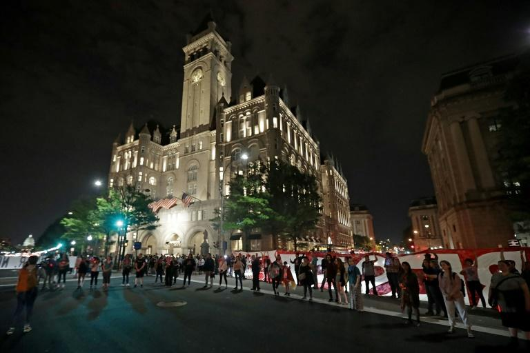 The Trump International Hotel is seen in April 2017