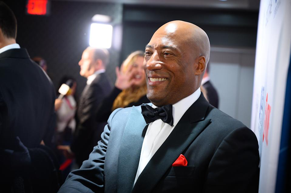 NEW YORK, NY - OCTOBER 29:  Byron Allen  arrives at the  Broadcasting & Cable Hall Of Fame In New York's Historic Ziegfeld Theatre on October 29, 2019 in New York City.  (Photo by Dave Kotinsky/Getty Images for  Entertainment Studios / Allen Media Group)