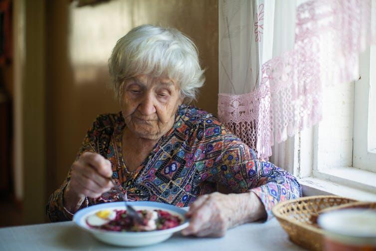 """<span class=""""caption"""">The elderly face many ageing issues when it comes to ensuring they are getting sufficient nutrition.</span> <span class=""""attribution""""><a class=""""link rapid-noclick-resp"""" href=""""https://www.shutterstock.com/image/1539503819"""" rel=""""nofollow noopener"""" target=""""_blank"""" data-ylk=""""slk:Shutterstock"""">Shutterstock</a></span>"""