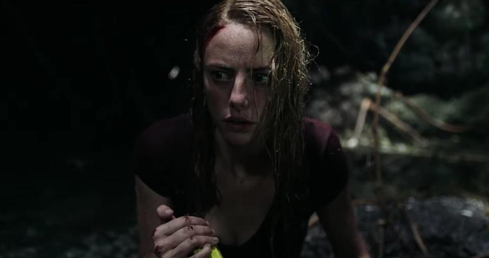 """<p>This horror film stars Kaya Scodelario as a woman named Haley Keller, who is tasked with helping her father evacuate before a Category 5 hurricane decimates their town. Unfortunately, when she arrives at his flooding home, she discovers that he's been severely wounded by an alligator that is casually hanging out in his basement (and who doesn't hesitate to take a chunk out of Haley, too). From there, the father-daughter team must figure out a way to survive not only a hurricane, and not only an alligator, but a hurricane and MULTIPLE alligators! Dun, dun, <em>dunnn</em>.</p> <p><a href=""""https://www.amazon.com/Crawl-Kaya-Scodelario/dp/B07TTHZWFC/ref=sr_1_2?crid=2UTCMQNQNI5MV&amp;dchild=1&amp;keywords=crawl+movie&amp;qid=1597680161&amp;s=instant-video&amp;sprefix=Crawl+movie%2Caps%2C157&amp;sr=1-2"""" class=""""link rapid-noclick-resp"""" rel=""""nofollow noopener"""" target=""""_blank"""" data-ylk=""""slk:Watch Crawl on Amazon Prime now"""">Watch <b>Crawl</b> on Amazon Prime now</a>.</p>"""