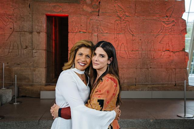 Sandra Bullock and Hoda Kobt opened up about their respective adoptive children. (Photo: Getty Images)