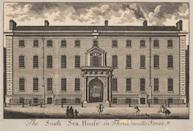 <b>3. The South Sea Company in 1720</b><br> <b>Value then</b>: 200 million British Pounds // <b>Adjusted to 2012 dollars</b>: U.S. $4 trillion <br><br> <b>HOW IT GOT SO BIG</b>: The South Sea Company's history largely aligned with that of the Mississippi Company. It, too, saw hyperinflation of its share price on misplaced speculation over future business growth. But there was a difference: the British government was pulling the strings instead of the French, and company's monopoly extended over Spanish-controlled South America and not French colonies further north. And it was able to fall back on its legitimate underlying trade business after the house of cards collapsed. <br><br> <b>WHAT HAPPENED</b>: Share value crashed in 1720 as investors realized that returns would never match the superheated expectations. The South Sea Company evolved away from trading, focusing on government debt management until it was dissolved in the mid-19th century. <br><br> <b>VALUE TODAY</b>: nil<br><br>Image: Wikimedia Commons