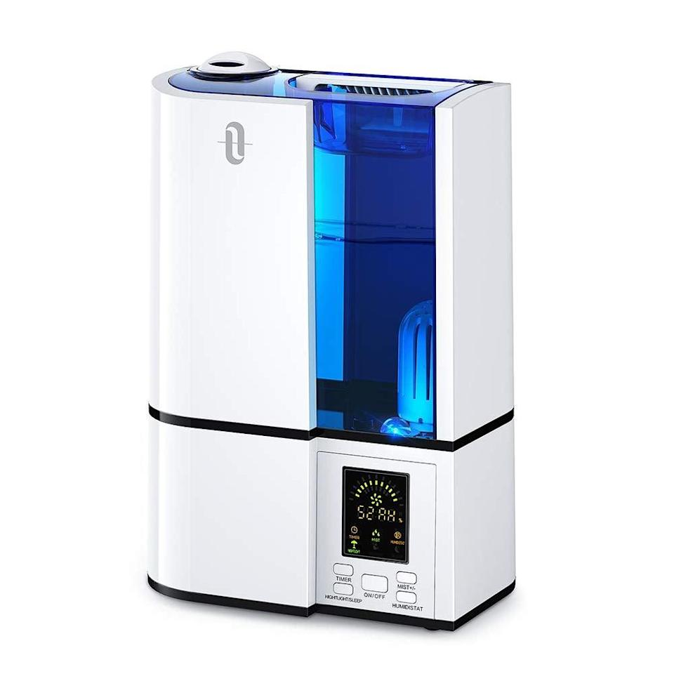 """<h3><a href=""""https://amzn.to/2UlGb8F"""" rel=""""nofollow noopener"""" target=""""_blank"""" data-ylk=""""slk:Cool Mist Humidifier"""" class=""""link rapid-noclick-resp"""">Cool Mist Humidifier</a></h3><br><strong>Liz</strong><br><br><strong>How She Discovered It:</strong> """"My allergist."""" <br><br><strong>Why It's A Hidden Gem:</strong> """"It's SO easy to fill and use on a daily basis — and makes such a difference for soothing my irritated sinuses.""""<br><br><strong>TaoTronics</strong> Ultrasonic Cool Mist Humidifier, 4L, $, available at <a href=""""https://amzn.to/2UlGb8F"""" rel=""""nofollow noopener"""" target=""""_blank"""" data-ylk=""""slk:Amazon"""" class=""""link rapid-noclick-resp"""">Amazon</a>"""