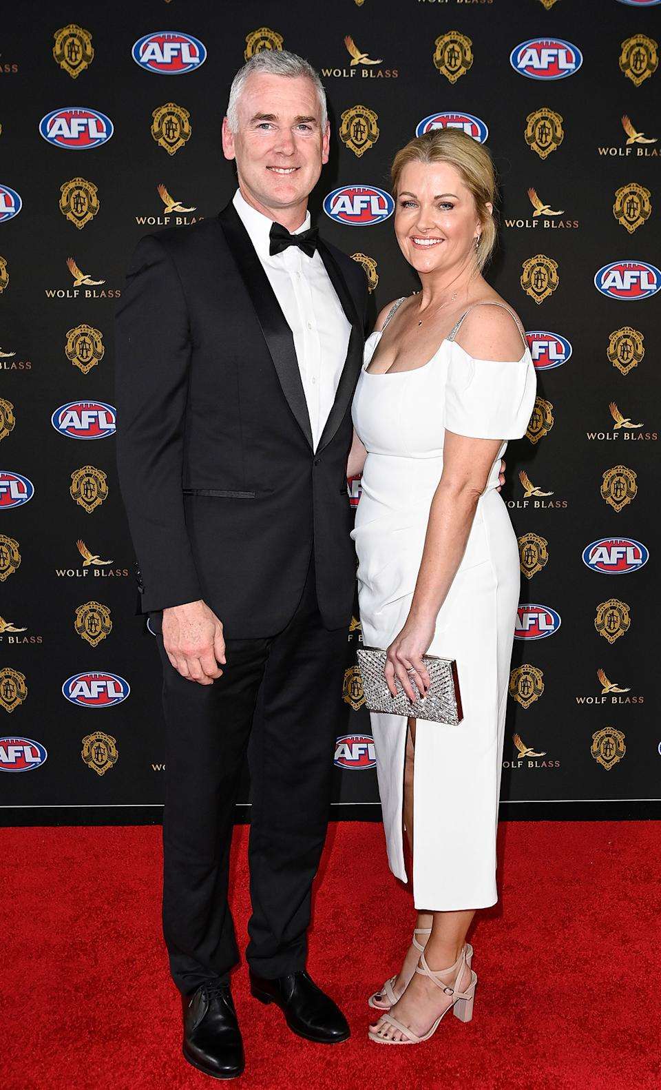 Adam & Nicky Simpson at the 2021 Brownlow Medal