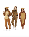 """<p>For a different take on <em>The Wizard of Oz</em>, suit up as a lion, a tiger, and a bear. Oh my! </p><p><a class=""""link rapid-noclick-resp"""" href=""""https://www.amazon.com/Rubies-Unisex-Adults-Collection-Comfy-Costume/dp/B07Q1DQ5NW/?tag=syn-yahoo-20&ascsubtag=%5Bartid%7C10055.g.28073110%5Bsrc%7Cyahoo-us"""" rel=""""nofollow noopener"""" target=""""_blank"""" data-ylk=""""slk:SHOP LION COSTUME"""">SHOP LION COSTUME</a></p><p><a class=""""link rapid-noclick-resp"""" href=""""https://www.amazon.com/Unisex-Pajamas-Animal-Onesie-Costume/dp/B07GC7G5SH/?tag=syn-yahoo-20&ascsubtag=%5Bartid%7C10055.g.28073110%5Bsrc%7Cyahoo-us"""" rel=""""nofollow noopener"""" target=""""_blank"""" data-ylk=""""slk:SHOP TIGER COSTUME"""">SHOP TIGER COSTUME</a></p><p><a class=""""link rapid-noclick-resp"""" href=""""https://www.amazon.com/Silver-Lilly-Unisex-Adult-Pajamas/dp/B0763SFQP1/?tag=syn-yahoo-20&ascsubtag=%5Bartid%7C10055.g.28073110%5Bsrc%7Cyahoo-us"""" rel=""""nofollow noopener"""" target=""""_blank"""" data-ylk=""""slk:SHOP BEAR COSTUME"""">SHOP BEAR COSTUME</a></p><p><strong>RELATED</strong>: <a href=""""https://www.goodhousekeeping.com/clothing/g29254658/best-adult-onesies-for-women/"""" rel=""""nofollow noopener"""" target=""""_blank"""" data-ylk=""""slk:15 Cozy Onesies Women Can Wear As Costumes"""" class=""""link rapid-noclick-resp"""">15 Cozy Onesies Women Can Wear As Costumes</a></p>"""
