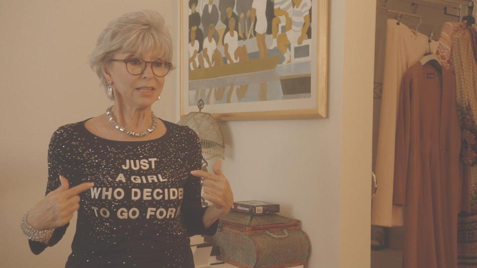 """<p>You'd have to have been living under a rock for the past 70 years to miss Rita Moreno's incredible career. The Emmy, Oscar, Grammy, and Tony-winning star has appeared in cultural touchstones from <em>Singin' in the Rain</em> to <em>West Side Story</em> (the original and<a href=""""https://www.townandcountrymag.com/leisure/arts-and-culture/a15942852/steven-spielberg-west-side-story/"""" rel=""""nofollow noopener"""" target=""""_blank"""" data-ylk=""""slk:Steven Spielberg's upcoming remake"""" class=""""link rapid-noclick-resp""""> Steven Spielberg's upcoming remake</a>) and <em>Jane the Virgin</em>. But how much do you really know about her? In director Mariem Pérez Riera's documentary, Moreno and an all-star cast of friends reveal the truth about her perseverance and passion as well as the formidable power of her legacy.</p>"""