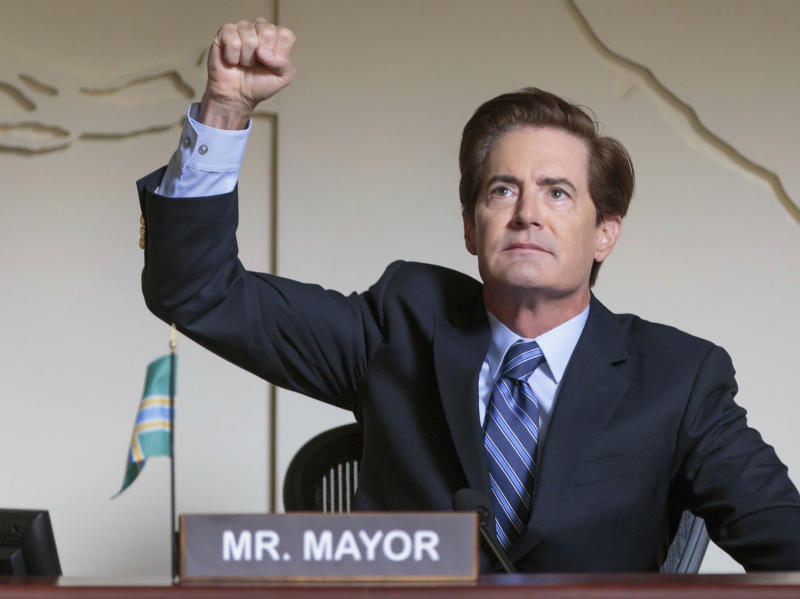 """This image released by IFC shows Kyle MacLachlan in a scene from """"Portlandia,"""" airing Thursdays at 10 p.m. EST (Augusta Quirk/IFC via AP)"""