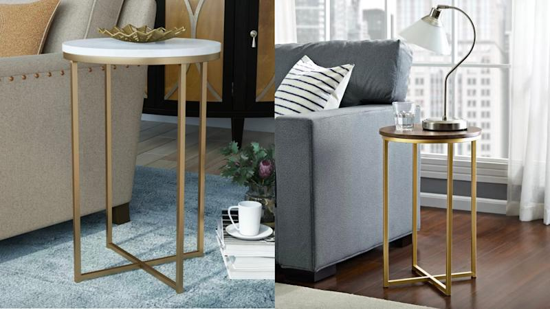 Gold legs are oh-so-chic and functional.