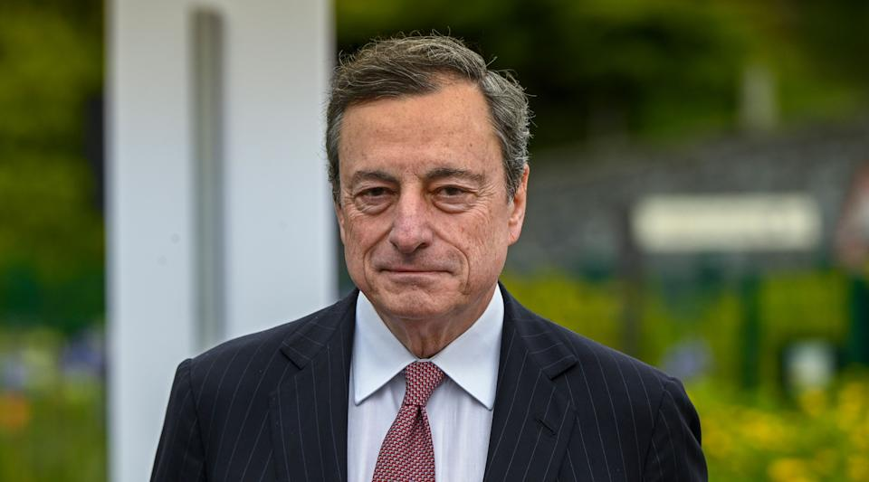SINTRA, PORTUGAL - JUNE 18: European Central Bank President Mario Draghi arrives to participate in the afternoon discussion session during the second day of the 2019 ECB Forum on Central Banking, on June 18, 2019 in Sintra, Portugal. The ECB Forum on Central Banking 2019 is devoted this year to 20 Years of European Economic and Monetary Union. (Photo by Horacio Villalobos#Corbis/Corbis via Getty Images) (Photo: Horacio Villalobos via Getty Images)