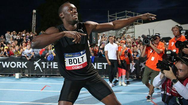 Bolt in Melbourne earlier this year. Image: Getty