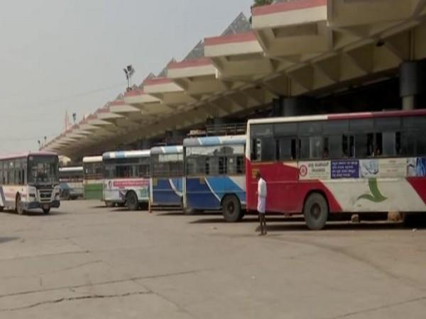 As many as 3,000 special buses have been introduced during the festive season in Hyderabad, Telangana. (Photo/ANI)