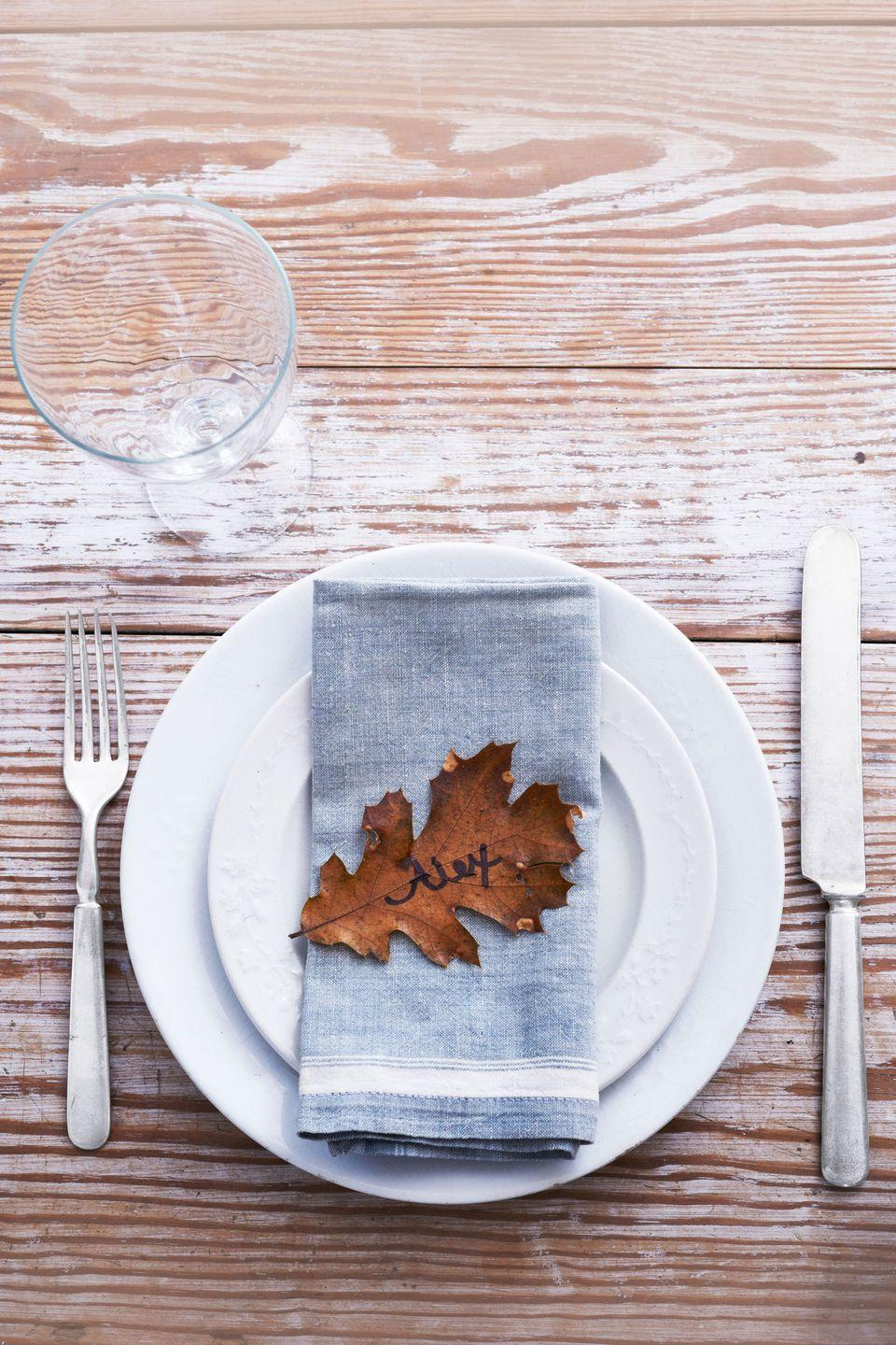 "<p>""Leaves in brilliant autumn shades stand on their own—just grab a pen,"" notes Julie Murphy, owner of <a href=""http://www.jackandlulu.com/"" rel=""nofollow noopener"" target=""_blank"" data-ylk=""slk:Jack and Lulu"" class=""link rapid-noclick-resp"">Jack and Lulu</a> stationery. </p><p><a class=""link rapid-noclick-resp"" href=""https://www.amazon.com/Kissitty-100-Piece-Unfinished-AntiqueWhite-1-96x1-02/dp/B07BFS8PDF?tag=syn-yahoo-20&ascsubtag=%5Bartid%7C10050.g.1538%5Bsrc%7Cyahoo-us"" rel=""nofollow noopener"" target=""_blank"" data-ylk=""slk:SHOP CRAFT LEAVES"">SHOP CRAFT LEAVES</a></p>"