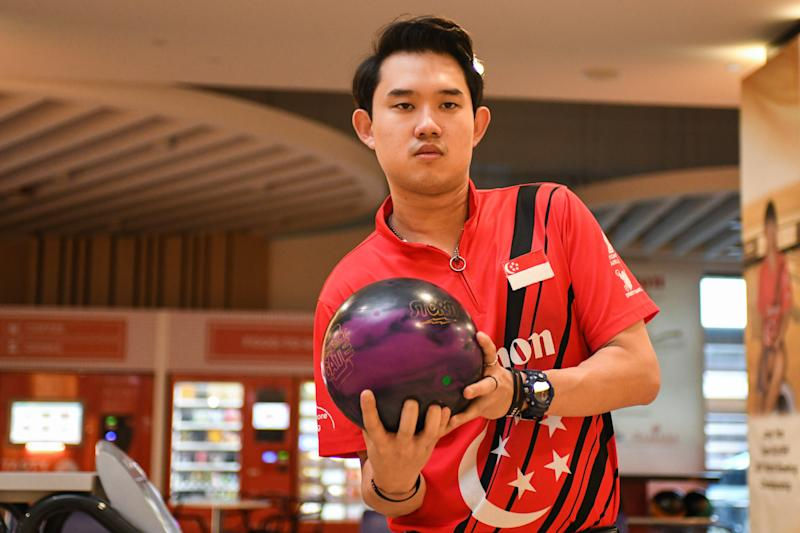 Muhammad Jaris Goh was instrumental in leading the Singapore men's bowling team clinch the team gold medal at the 2017 SEA Games. (PHOTO Stefanus Ian/Yahoo News Singapore)