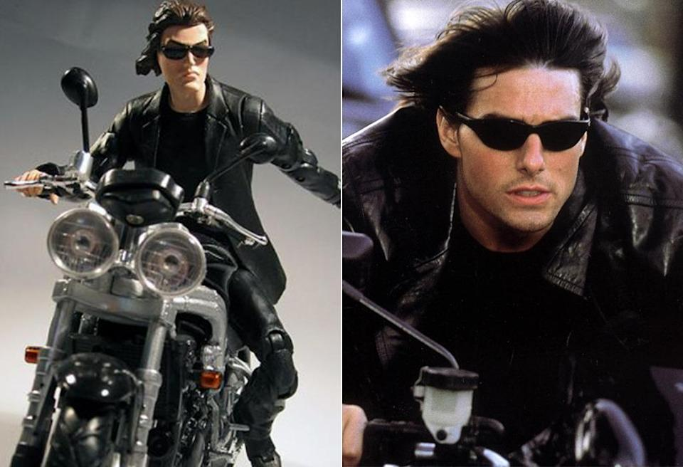 <p>This imagines Tom Cruise circa 'Mission: Impossible 2' as a weird '90s cartoon character. (Photo: Famous Figures/Everett)</p>
