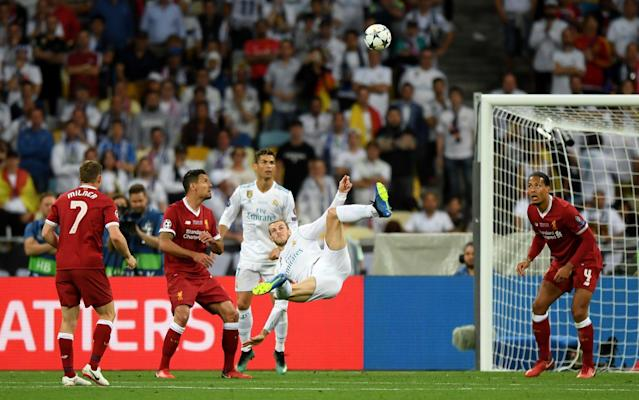 Bale's overhead kick heads past Loris Karius to put Liverpool ahead - Getty Images Europe