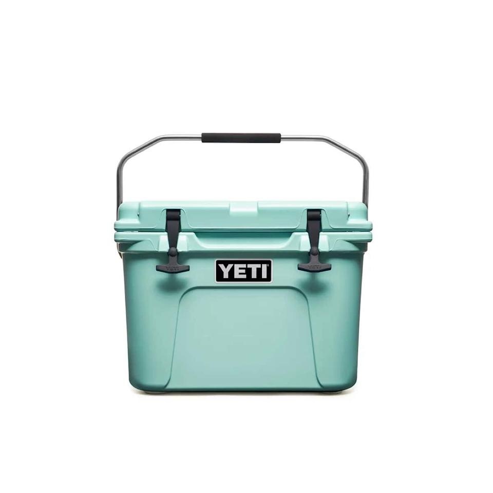 """If he loves the great outdoors, this top-rated cooler will keep his favorite beverages as nearly cold as ice during a long hike or a day of tailgating. $200, YETI. <a href=""""https://www.yeti.com/en_US/hard-coolers/roadie-20-cooler/YR20.html"""">Get it now!</a>"""