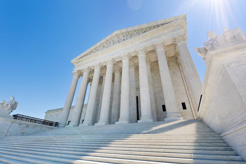The United States Supreme Court building in Washington DC, USA.