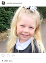 <p>LIberty X singer Michelle Heaton, 37, shared this sweet picture of her daughter Faith heading off to school. <i>(Photo: Instagram)</i><br></p>