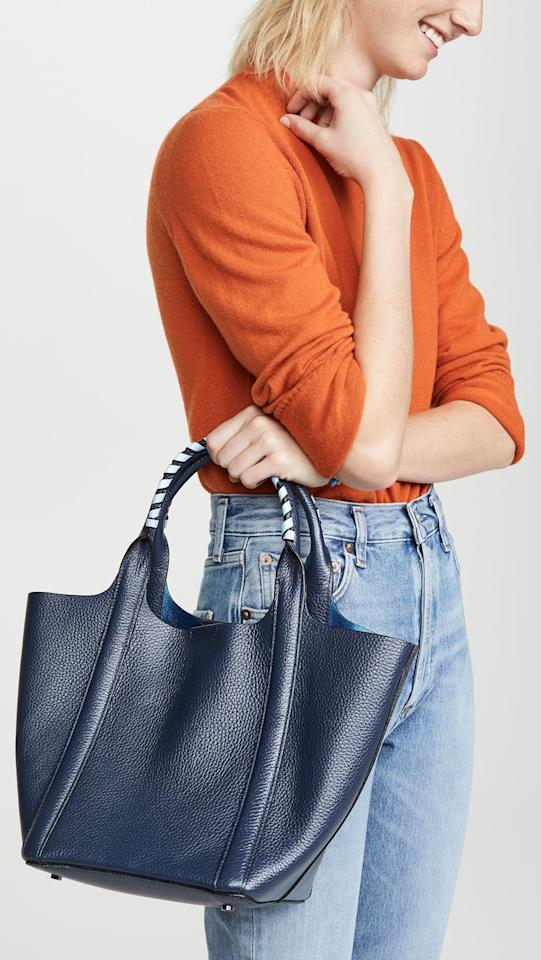"""<p>The fun lining and cute straps make this <a href=""""https://www.popsugar.com/buy/Botkier-Nomad-Mini-Tote-Bag-483604?p_name=Botkier%20Nomad%20Mini%20Tote%20Bag&retailer=shopbop.com&pid=483604&price=288&evar1=fab%3Aus&evar9=45623846&evar98=https%3A%2F%2Fwww.popsugar.com%2Ffashion%2Fphoto-gallery%2F45623846%2Fimage%2F45623881%2FBotkier-Nomad-Mini-Tote-Bag&list1=shopping%2Caccessories%2Cbags%2Cworkwear&prop13=mobile&pdata=1"""" rel=""""nofollow"""" data-shoppable-link=""""1"""" target=""""_blank"""" class=""""ga-track"""" data-ga-category=""""Related"""" data-ga-label=""""https://www.shopbop.com/nomad-mini-tote-botkier/vp/v=1/1518888589.htm?fm=pd_sb_pd_sims_v_1&amp;os=false"""" data-ga-action=""""In-Line Links"""">Botkier Nomad Mini Tote Bag  </a> ($288) a total winner.</p>"""