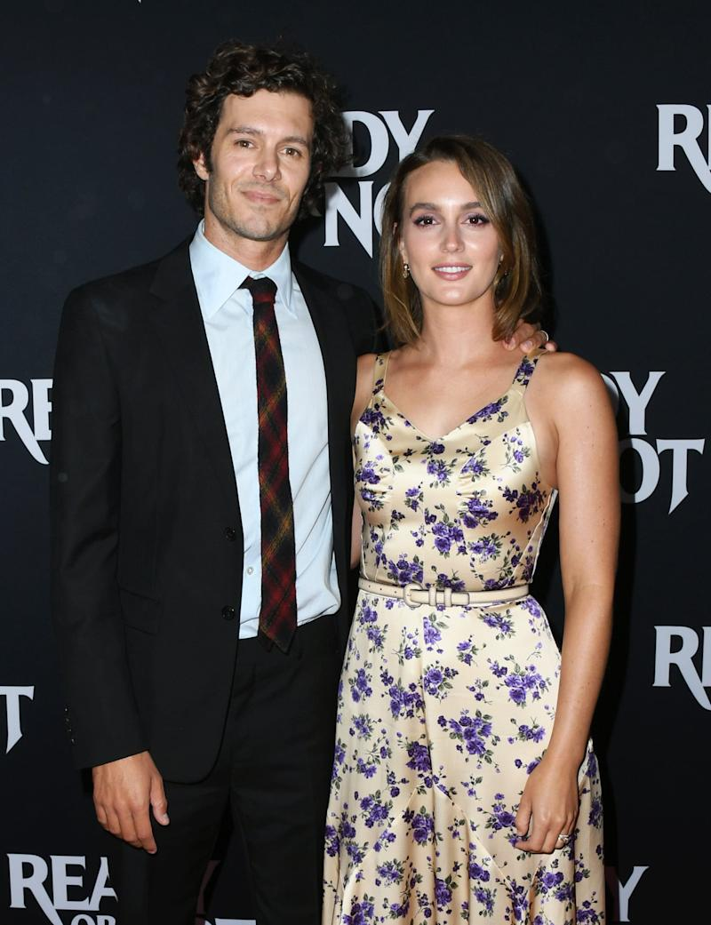 CULVER CITY, CALIFORNIA - AUGUST 19: Adam Brody and Leighton Meester attend the LA Screening Of Fox Searchlight's