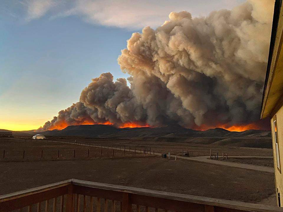 Jessy Ellenberger took this photo from the deck of her home north of Granby, Colo., just before sunset on Wednesday, Oct. 21.