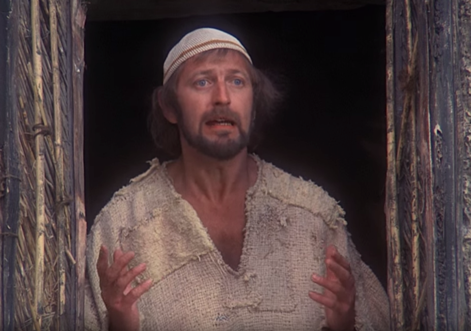 """<p>Monty Python take on Christ with this story of Brian of Nazareth, a man who was born on the same night as Jesus—just in the stable next door—and spends his entire life being mistaken for the messiah. </p><p><a class=""""link rapid-noclick-resp"""" href=""""https://www.netflix.com/watch/699257?trackId=13752289&tctx=0%2C0%2Cd0d928f4-6a15-4203-85a8-6bba55588fc1-23048866%2C%2C"""" rel=""""nofollow noopener"""" target=""""_blank"""" data-ylk=""""slk:Watch Now"""">Watch Now</a></p>"""
